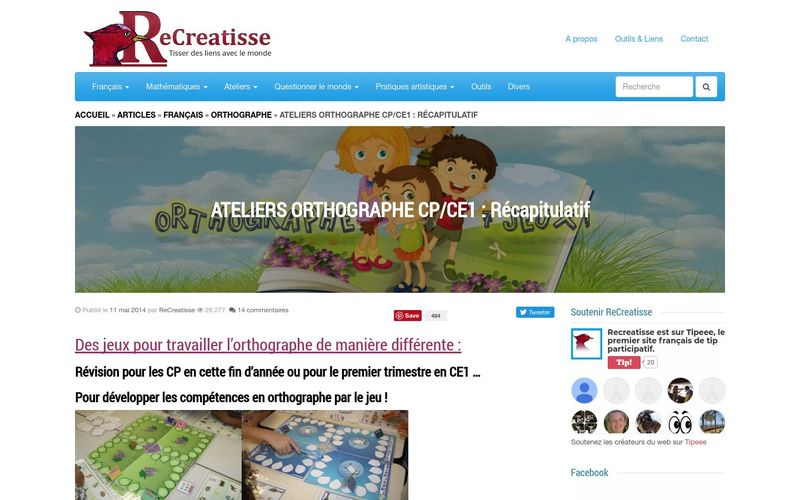 ATELIERS ORTHOGRAPHE CP/CE1 : Récapitulatif - ReCreatisse
